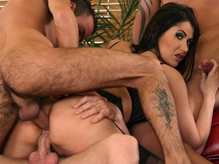 Brutalclips - molten tart Eva Karera gang-fucked By trio fellows
