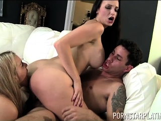 Hardcore triad approximately Lexi Luna Natasha with an eye to coupled with Brad