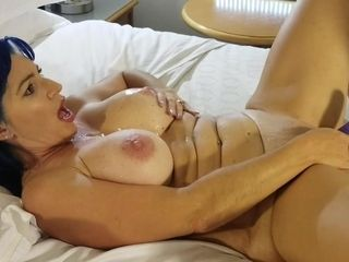 Plump mother getting off