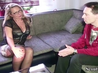 GERMAN cougar pummel WITH STRANGER FROM DATINGSITE SCOUT69