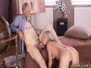 Youthfull elder mature s and buddy crony s daughters-in-law blond drilled in the kitchen hard-core then he