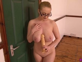 Nerdy lady in glasses Rachael C plays with her favourite fuck stick boy