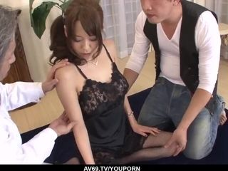 Akari Asagiri uses entire strength to deal a good-sized chisel - More at 69avs.com
