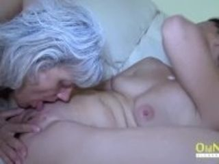 """""""OldNannY 2 Mature lesbos and Glass Dildo"""""""