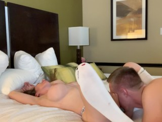 Making out and going down on immensely sumptuous Bianca Burke
