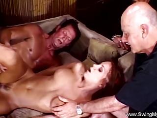 Horrific Redhead Swinger wed
