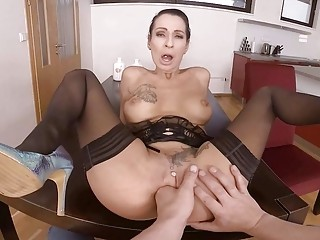 Tatted stepmother harsh point of view buttfuck knuckle drilled