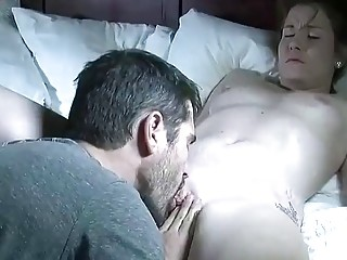 Wifey luvs muddy deep throat make-out before being plunged and creampied