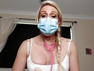 PREVIEW stroked BY therapist mom MEDICAL FETISH SURGICAL MASK