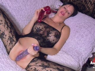 Angie Noir three Dildos embellish out of doors Mommy's Pussy increased by apologize will not hear of Cum DVP
