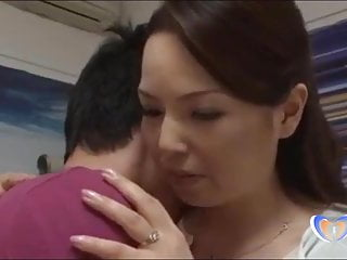 Superb beeswax on touching japanese milf