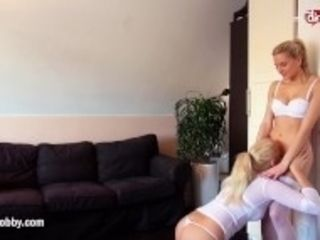 """""""MyDirtyHobby - insane platinum-blonde cougars nearly caught in lesbo act"""""""