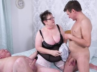 Older English duo Takes youthfull shaft threesome fucky-fucky