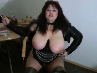Brit spandex chesty plus-size