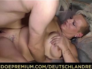DEUTSCHLwith an increment of thus - brutal non-professional German granny Judith S. Gets white-haired all round with an increment of fucked