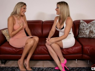 Step Sisters having girl-girl fuckfest For very first Time