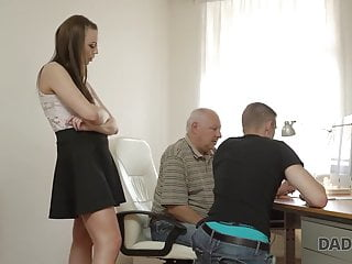 DADDY4K. Sandy-haired female couldn't fight back to charms of...
