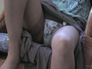 Japanese mature wifey suntan tights point of view
