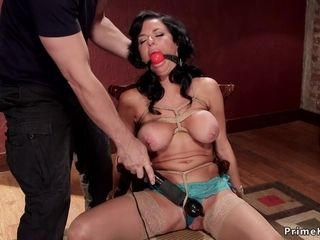 Full-Breasted mummy dual intrusion played domination & submission