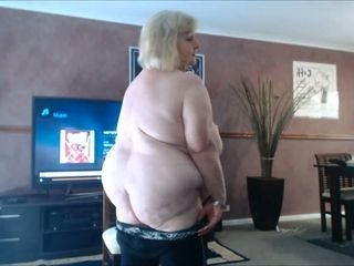 This fat grandmother enjoys being nude and I'd enjoy to pump a humungous stream inwards her
