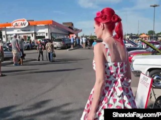 Skedaddle mix up Cougar Shanda Fay Gets their way Holes rim readily obtainable CarShow!