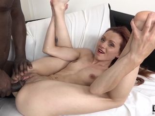 Sumptuous red-haired cougar torn up stiff by monstrous boy with monstrous chisel