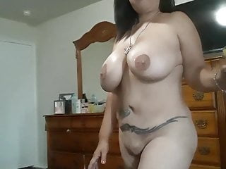 Mature latina flashing off her XXL mounds