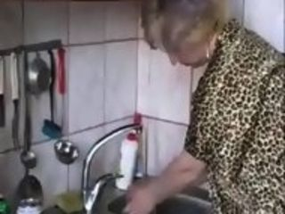 Russian language mommies Irina - having bang-out in the kitchen