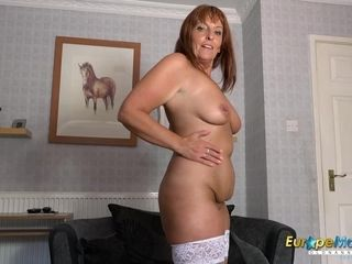 Europe Mature insane Housewife female Solo Striptease
