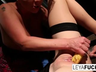 Whorley Quinn interrogates horny Jezebelle then gets DP'd|1::Big mounds,3::Lesbian,20::MILF,25::Masturbation,26::Blonde,38::HD,57::Brunette,2331: