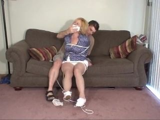 Lustful mature land chick was prepped for some ultra-kinky restrain bondage exercise