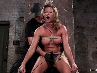 Fat breasts mother gimp ass-fuck gonzo played in hog-tie