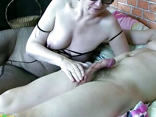 OldNannY sweltering adult Granny Anna Got Fucked enduring
