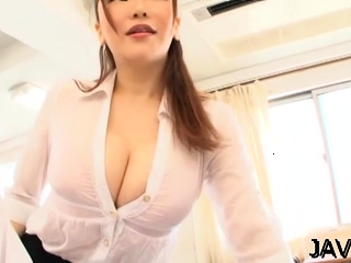 Oriental professor stretches broad for shaft in impatient gonzo