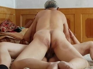 Just simple mature duo pounding missionary after getting all bare