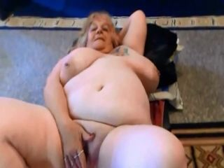 Large grandmother stiff bang-out