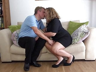 Monstrous titted mummy Camilla screws sugar father