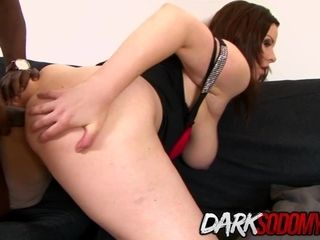 Cougar Carol Wings opens up Her ass-hole with a plaything Before Taking big black cock