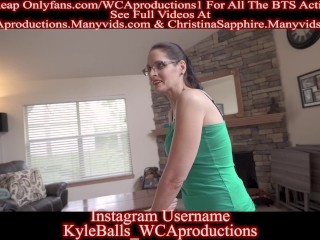 Rubdown From My gfs super-hot mommy Part three Christina Sapphire