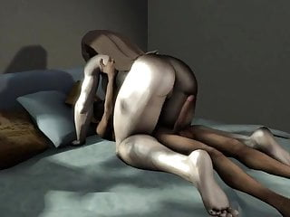 3D Interracial - Milf with the addition of obese inky load of shit
