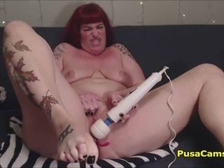 Grown up Redhead old bag near obese pair well forth exotic Toying Pussy