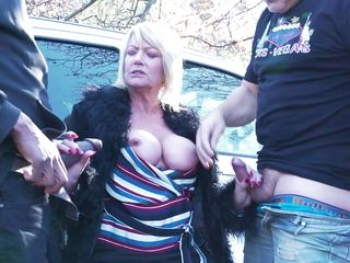 Big-titted Mature Gets plowed On The Roadside