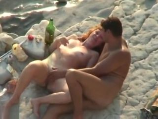 Hidden cam boy milking And drill red-haired gal On A Public Beach