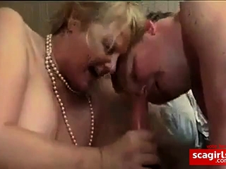 French bisexous mature duo share a salami