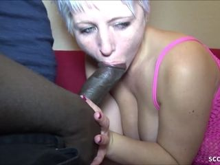 GERMAN mother book dark-hued CALLBOY with MONSTER man meat to pound her