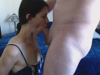 Cougar manacled and deep-throating fuck-stick CIM and collective jizz smooch