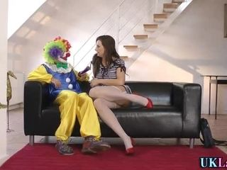 Stockings brit clown cum