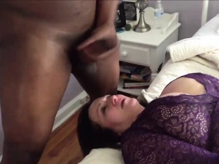 Watching his Wife Get a Face-Full of Cum