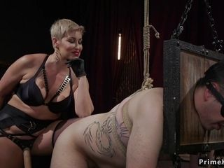 Buxom Mature dom sodomy romps fellow