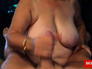 Granny providing fellatio point of view